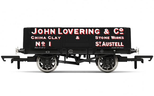 5 Plank Wagon, 'John Lovering & Co.' No.1 - Hornby 00 Gauge