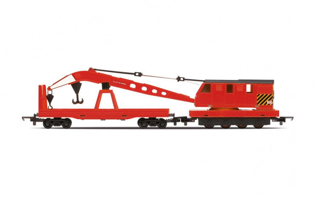 Breakdown Crane with Wagon BR Livery Era 5 - Hornby Trains 00 Gauge