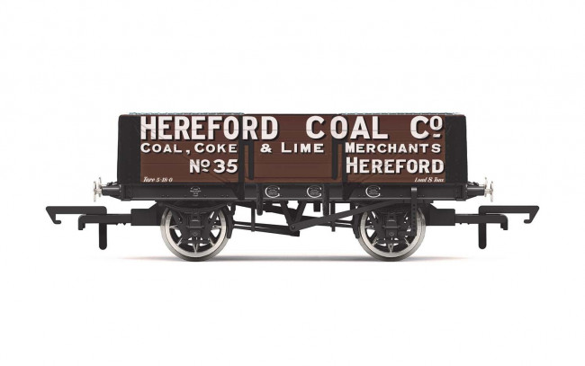 5 Plank Wagon, 'Hereford Coal Company' No. 35 - Era 2 - Hornby 00 Gauge