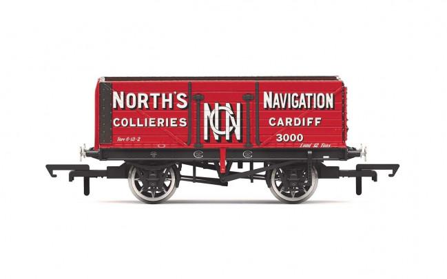 7 Plank Wagon, 'North's Navigation' No. 3000 - Era 2 - Hornby 00 Gauge