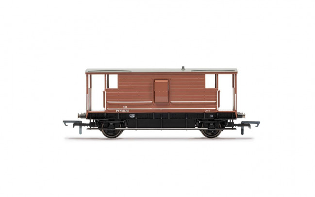 BR, D2068 20T Brake Van, M731456 Era 4 - Hornby 00 Gauge