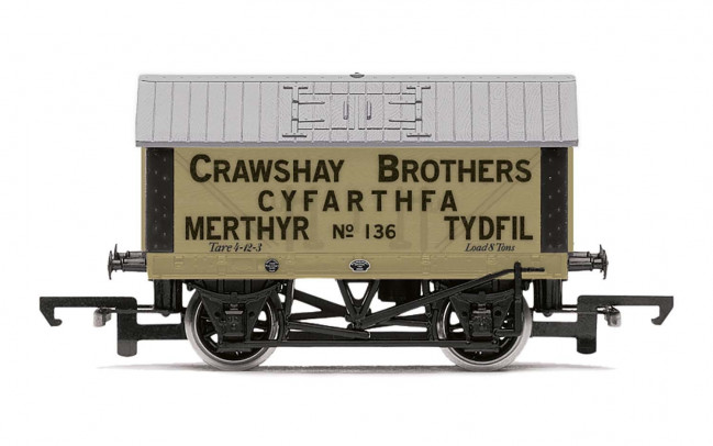 Crawshay Brothers, 8T Lime Wagon, No. 136 - Era 2/3 - Hornby 00 Gauge
