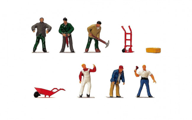 1:76 Scale Working People - Hornby Train Track Accessories 00 Gauge