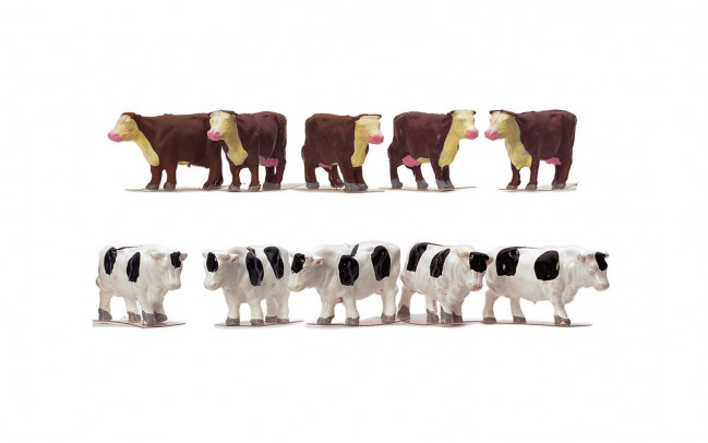 1:76 Scale Cows Farm Animals - Hornby Train Track Accessories 00 Gauge