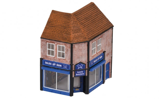 The Butchers Shop Isles and Son - Hornby Trains Skaledale Buildings 00 Gauge