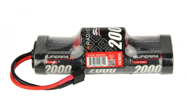 Superpax 7-Cell SC 2000mAh 8.4V NiMH Hump Battery Pack with Deans T-style Plug