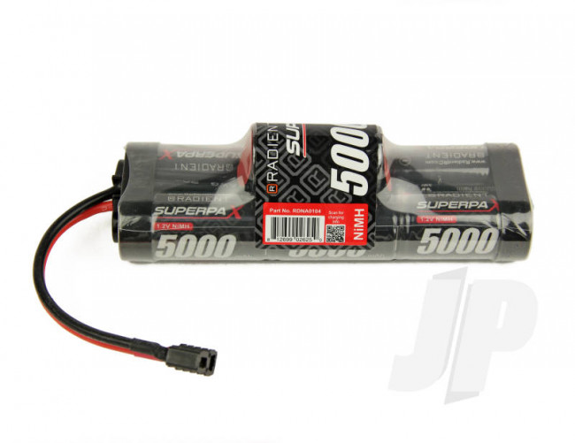 Superpax 7-Cell SC 5000mAh 8.4V NiMH Hump Battery Pack with Deans T-style Plug