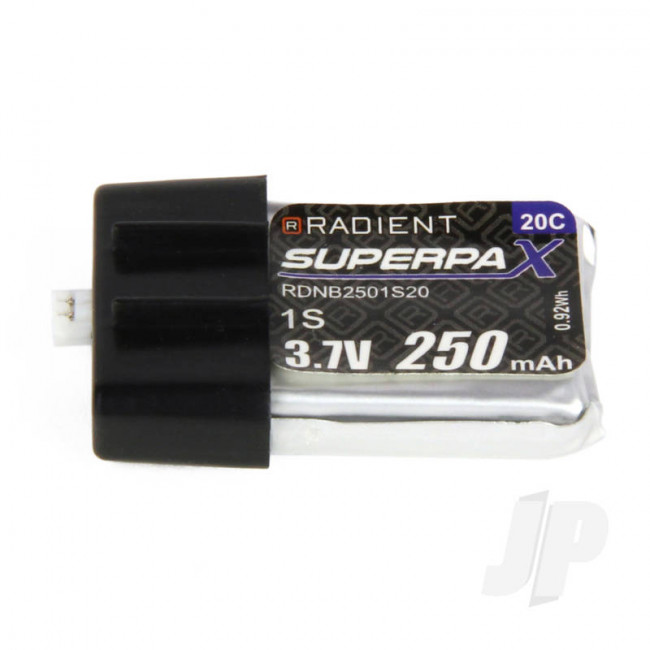 Radient LiPo Battery 1S 250mAh 3.7V 20C Ultra-Micro Connector Plug