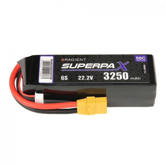 Radient 6S 3200mAh 22.2V 50C LiPo Battery w/ XT90 Connector Plug