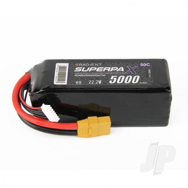 Radient LiPo Battery 6S 5000mAh 22.2V 50C XT90 Connector Plug