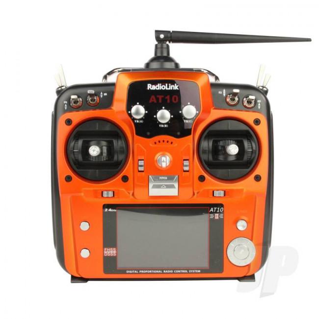 RadioLink AT10II 2.4GHz 12-Channel Transmitter with Receiver (Orange)