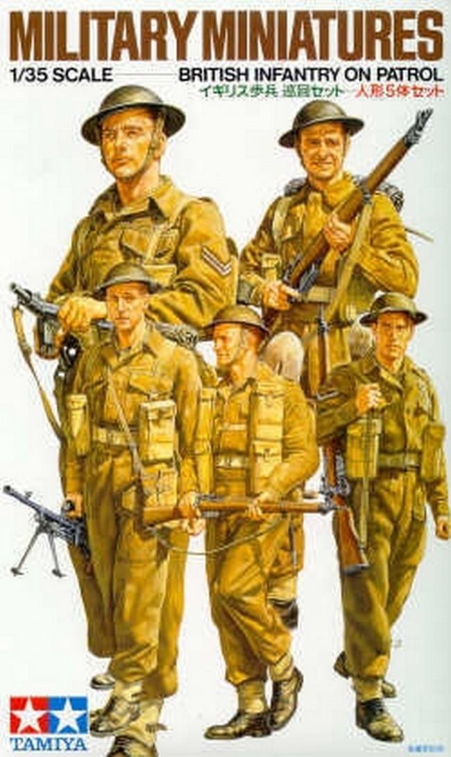 Tamiya WWII British Infantry On Patrol 1:35 | 35223 Plastic Model Military Kit