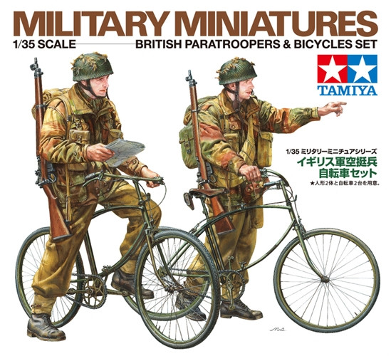 Tamiya WWII British Paratroopers & Bicycles Set 1:35 | 35333 Plastic Model Military Kit