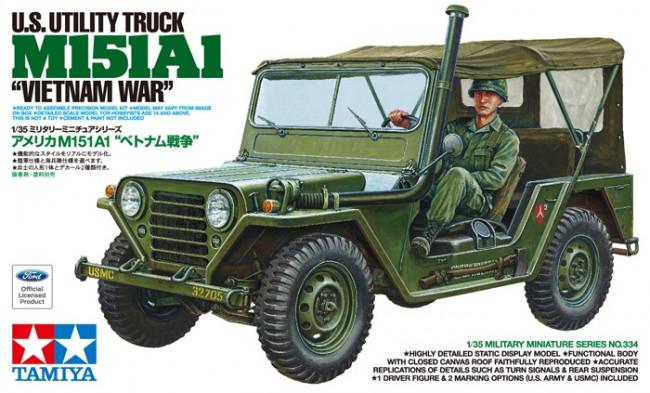 Tamiya US Ford M151A1 Vietnam War Jeep 1:35 | 35334 Plastic Model Military Kit