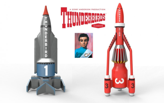 Thunderbirds TB1 and TB3 50th Anniversary Edition Corgi Diecast Models