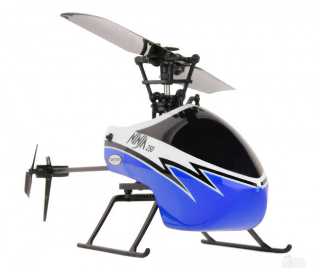 Twister Ninja 250 RC Helicopter w/Pilot Assist+Stabilisation+Altitude Hold -Blue