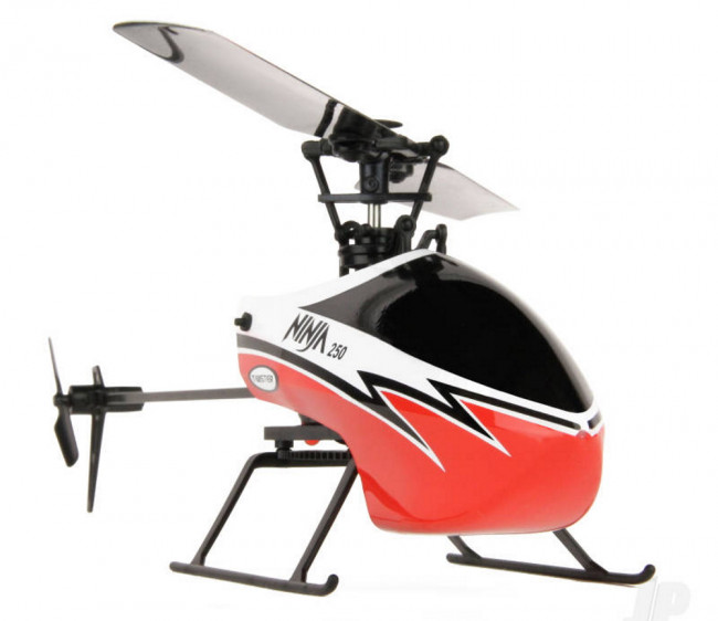 Twister Ninja 250 RC Helicopter w/Pilot Assist+Stabilisation+Altitude Hold - Red
