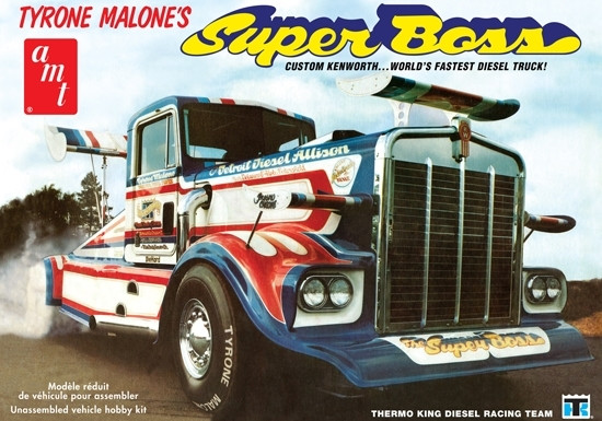 Tyron Malone's Kenworth Super Boss Drag Truck 1:25 Scale AMT Detailed Plastic Kit
