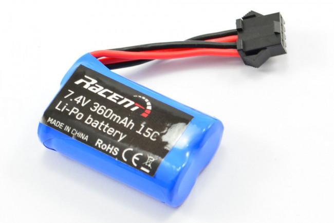 Volantex Vector 28/Tumbler/Claymore 7.4V 360mAh 2S 15C Li-ion Battery - New Plug