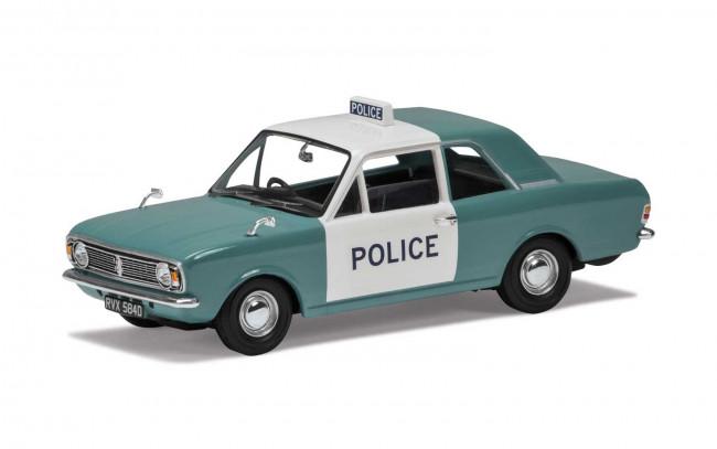Ford Cortina Mk2 1300 De Luxe Manchester & Salford Police -  Corgi 1:43 Car VA04116