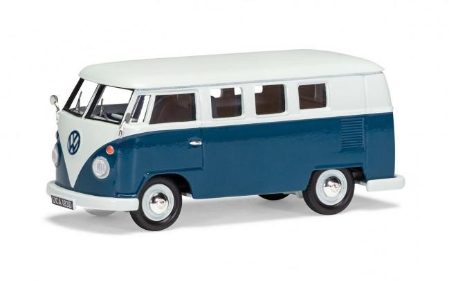 Volkswagen Type 2 Camper, Sea Blue & Cumulus White - Limited Edition Corgi 1:43 Car