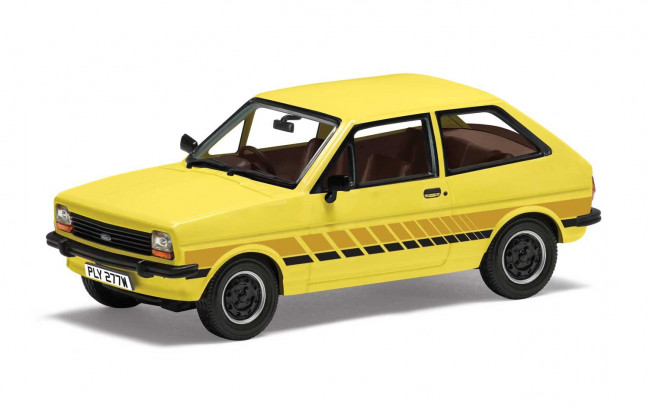 Ford Fiesta Mk1 Festival, Prairie Yellow - Corgi 1:43 Diecast Car VA12509
