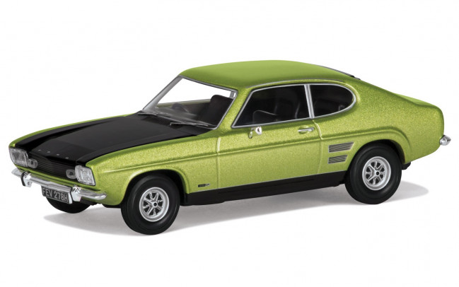 Ford Capri Mk1 1600GT XLR, Fern Green Metallic - Corgi 1:43 Diecast Car VA13310