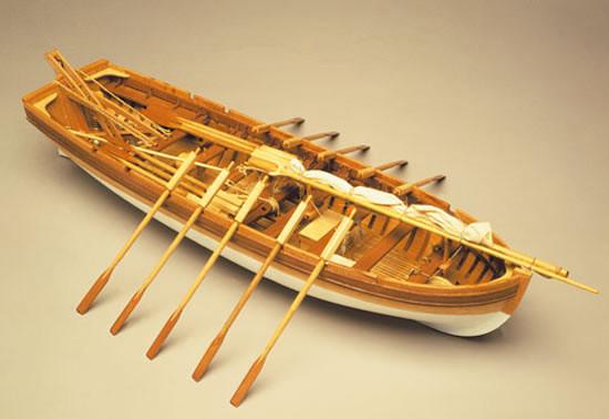 Mantua Panart HMS Victory Sloop Long Boat Wooden Ship Kit Scale 1:16