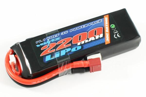 Voltz 2200mAh 3S 11.1v 30C LiPo Battery