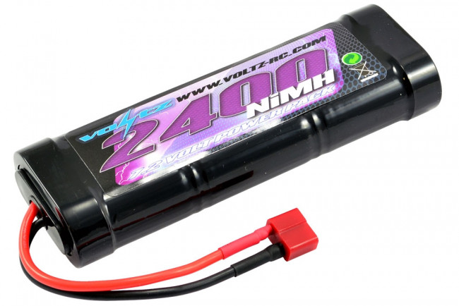 Voltz 2400mAh 7.2v NiMH Stick Pack with Deans T Connector