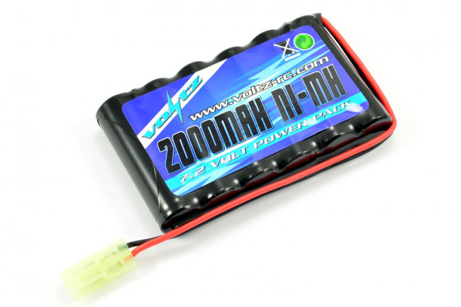 Voltz 7.2V 2000mah AA Battery Pack fits Hobby Engine Tanks, Excavator, Fork Lift, Crane etc