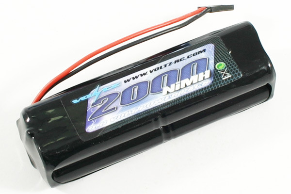Voltz 9.6 Volt 2000mAH Transmitter Square Battery Pack