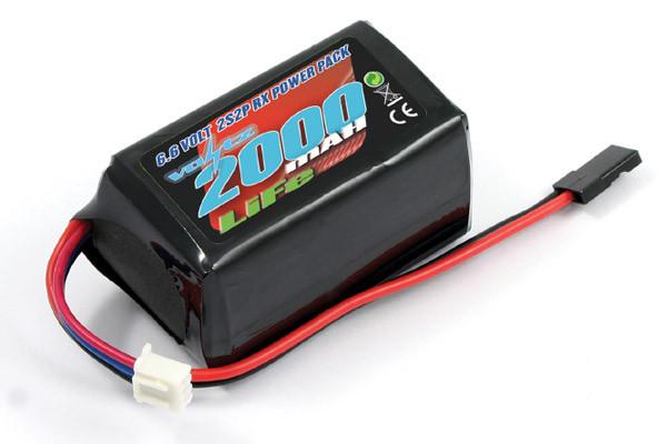 Voltz 2000mAH 2S 6.6V LiFe Receiver Hump Battery Pack