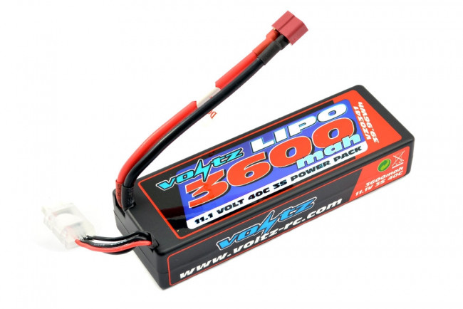 Voltz 3600mAh 3S 11.1v 40C Hard Case LiPo Stick Battery - 2S Size