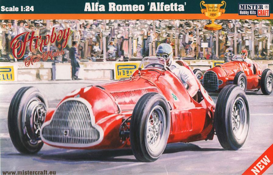 alfa romeo 158 159 alfetta 1950 french grand prix winner 1 24 plastic kit mcd222. Black Bedroom Furniture Sets. Home Design Ideas