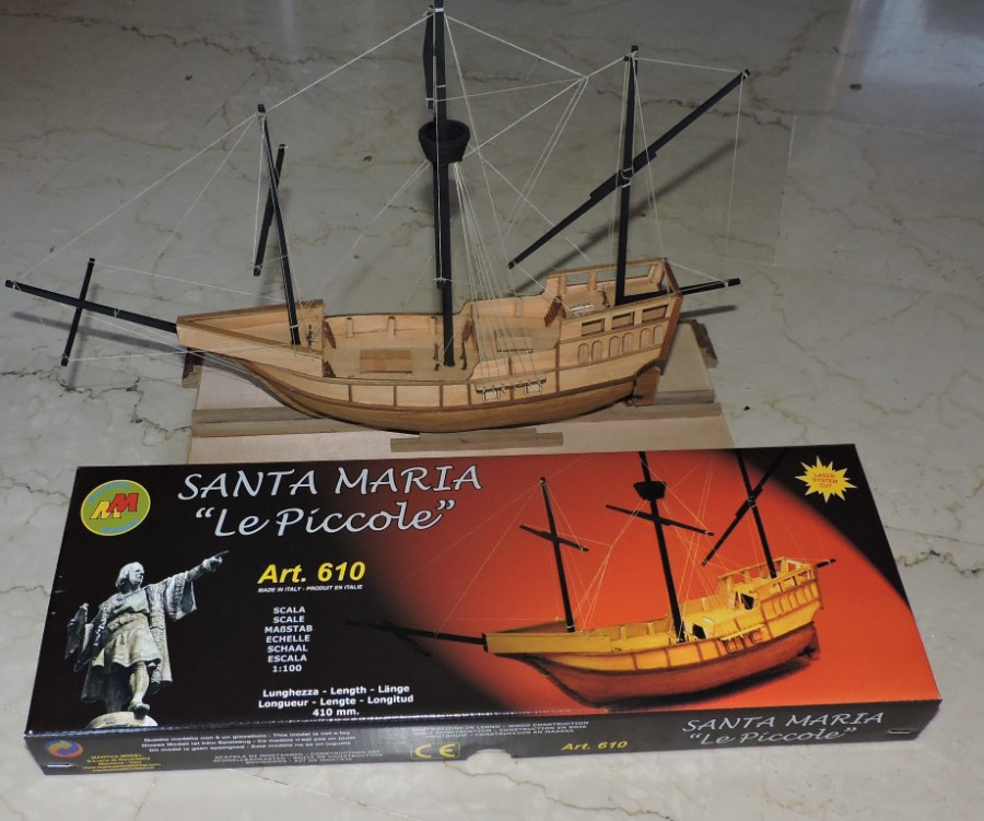 "Mantua Santa Maria 1:100 Scale Wood Ship Kit ""Le Piccole ..."