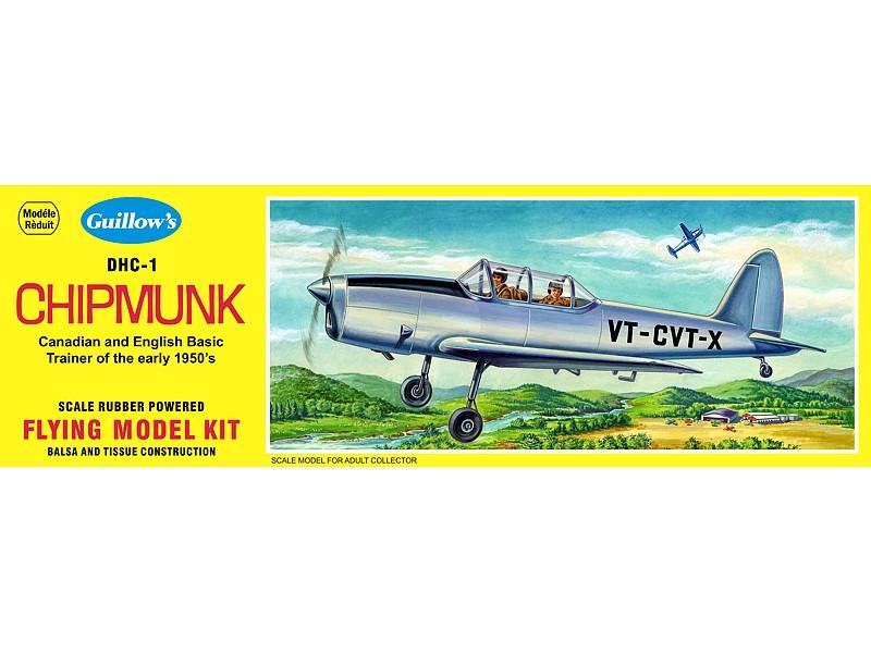 De Haviland Chipmunk 431mm Wingspan Flying Model Balsa Aircraft Kit