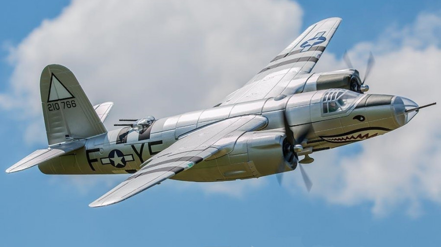 dynam martin b 26 marauder ww2 bomber 1500mm artf no tx rx bat Martin B 26 Bomber