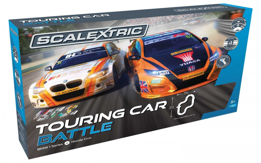 Scalextric Btcc Bmw Amp Honda Touring Car Battle Slot Racing Set