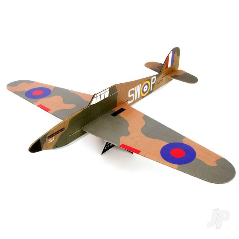Hurricane Mk I Large Balsa Freeflight Kit with History Sheet & Pilot Logbook
