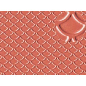 Slaters 0438 Roof Tile (Scalloped Shell) Plastikard Plasticard 00 Model Railway Warhammer
