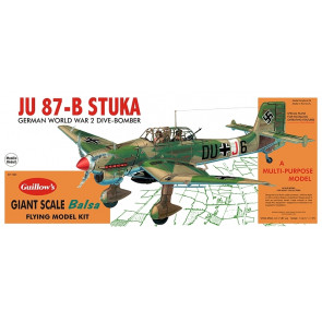 Junkers JU 87-B Stuka Giant Scale 1:16 Guillow's Balsa Aircraft Kit 870mm Wingspan
