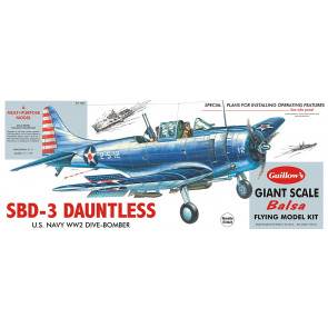 Douglas SBD-3 Dauntless Large Scale 1:16 Guillow's Balsa Aircraft Kit 793mm Wingspan