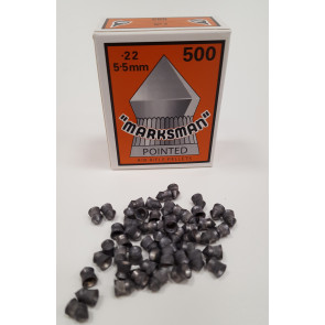 Marksman .22 Pointed Air Gun, Rifle and Pistol Lead Pellets Qty 500