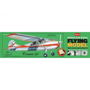 Cessna 170 Flying Model Balsa Aircraft Kit 610mm Wingspan from Guillow's