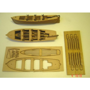 Mantua Plastic and Wood Lifeboat Kit Length 105mm