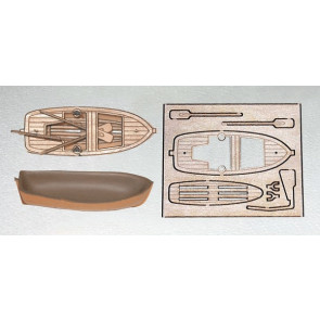 Mantua Plastic and Wood Lifeboat Kit Length 65mm