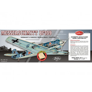 Messerschmitt BF-109 Flying Model Balsa Aircraft Kit 619mm Wingspan from Guillow's