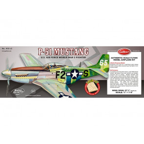 P-51 Mustang Flying Model Balsa Aircraft Kit 705mm Wingspan from Guillow's