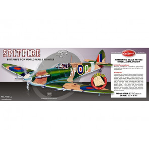 Supermarine Spitfire Flying Model Balsa Aircraft Kit 702mm Wingspan from Guillow's